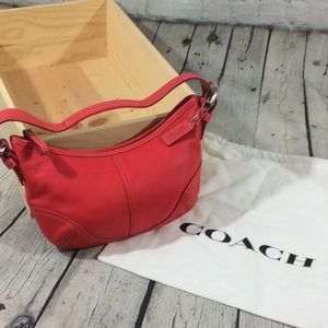 Coach Hobo with dust bag rare color raspberry
